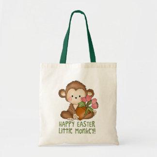 Sacola pequena do macaco do felz pascoa sacola tote budget