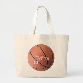 Sacola personalizada do basquetebol bolsa tote grande