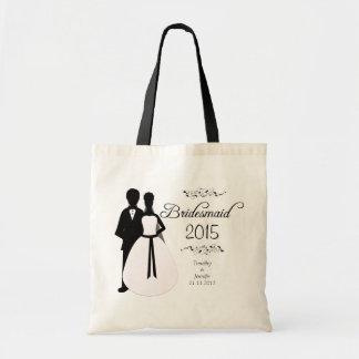 Sacola personalizada do favor do casamento da dama sacola tote budget