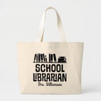 Sacola personalizada do livro do bibliotecário de bolsa tote grande