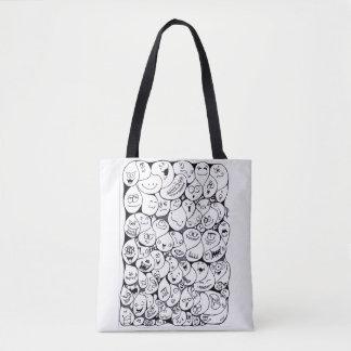 Sacola preto e branco do Doodle Bolsa Tote