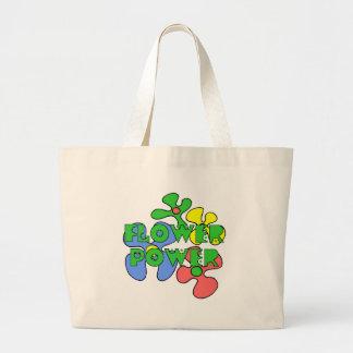 Sacola retro de flower power bolsas de lona