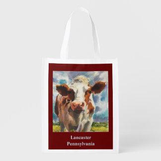 Sacola reusável com vaca
