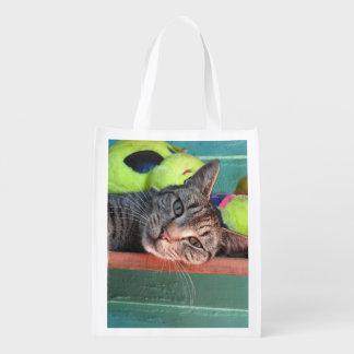 Sacola reusável dos gatos de O do saco
