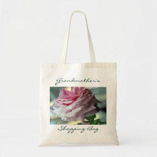 Sacola reusável personalizada rosa da compra do sacola tote budget