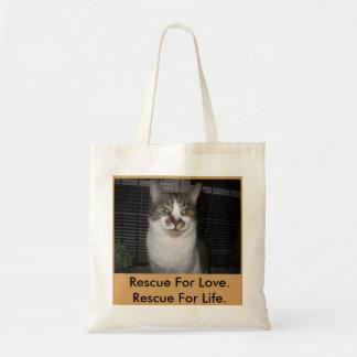 Sacola salvada do gato sacola tote budget