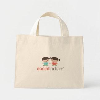 Sacola social da criança bolsa de lona