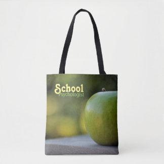 Sacola verde de Apple do psicólogo da escola Bolsa Tote