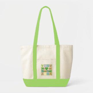 Sacola (verde) dos retalhos do professor bolsa para compra