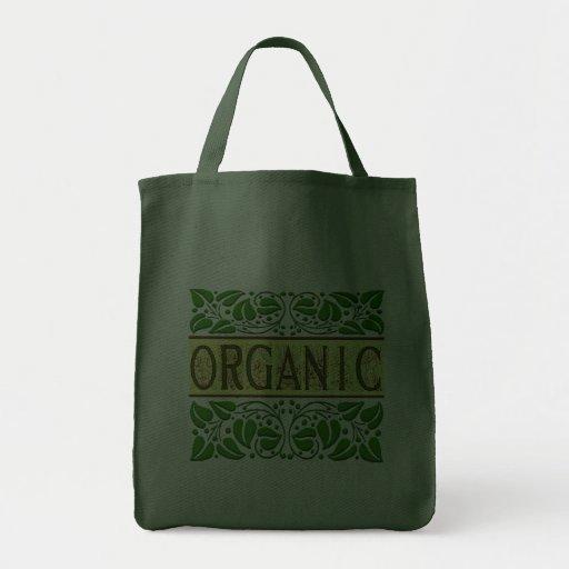 Sacola verde orgânica do slogan bolsa de lona