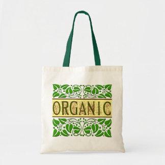 Sacola verde orgânica do slogan sacola tote budget
