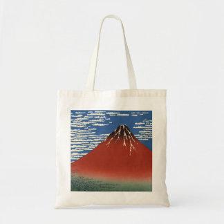 Sacola vermelha de Fuji do céu do espaço livre do  Bolsas De Lona
