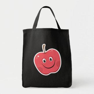 Sacola vermelha do personagem de desenho animado d sacola tote de mercado