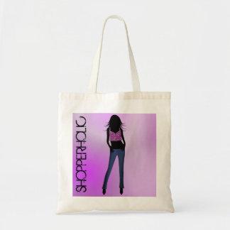 Sacolas à moda do orçamento da menina da forma de sacola tote budget