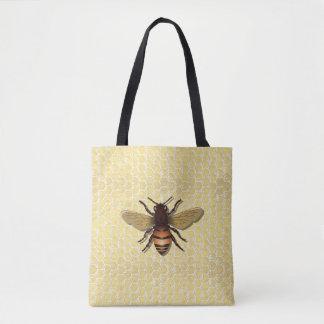 Sacolas da abelha do mel do favo de mel bolsas tote
