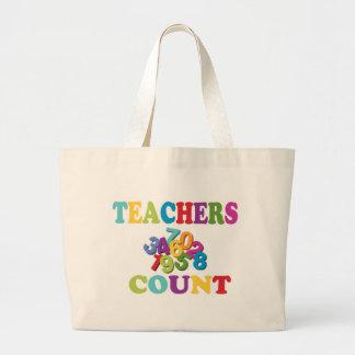 Sacolas da contagem dos professores sacola tote jumbo
