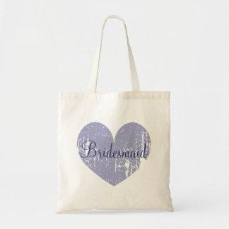 Sacolas personalizadas da dama de honra do coração bolsa para compra