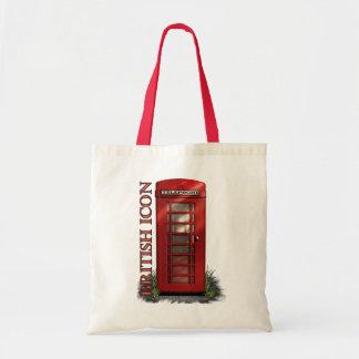 Sacolas vermelhas britânicas da caixa de telefone bolsa