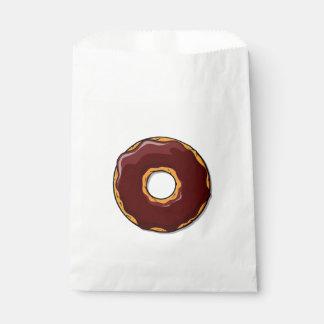 Sacolinha 1 design da rosquinha do chocolate dos desenhos