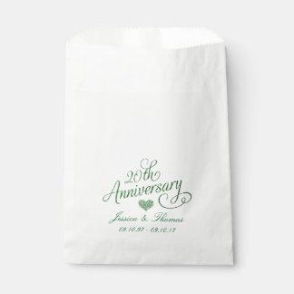 Sacolinha 20o Saco esmeralda do favor do aniversário de
