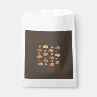 Sacolinha Abóboras com o saco do favor das folhas