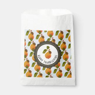 Sacolinha Acção de graças da fruta das peras da queda