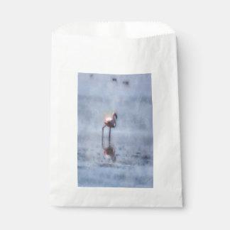 Sacolinha Aguarela solitário do flamingo
