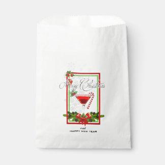Sacolinha Arte da aguarela do cocktail do Natal