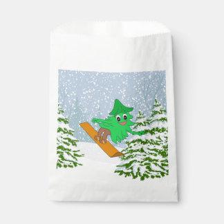 Sacolinha Árvore de Natal da snowboarding