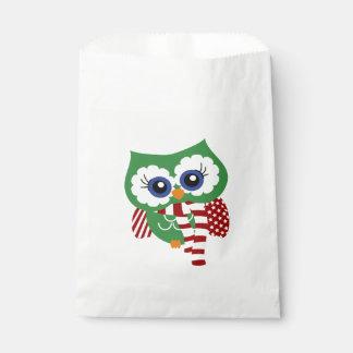 Sacolinha As bolsas bonitos do favor da coruja do feriado