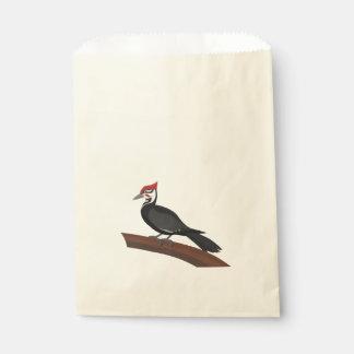 Sacolinha As bolsas do favor da arte do vetor do pica-pau de