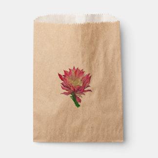 Sacolinha As bolsas do favor da flor da aguarela