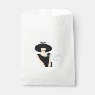 Sacolinha As bolsas do favor de partido da senhora e do