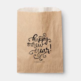 Sacolinha As bolsas do favor de partido do roteiro do feliz