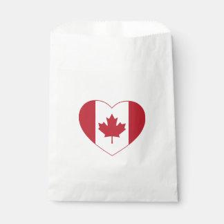 Sacolinha As bolsas do favor do coração da bandeira de