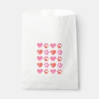 Sacolinha As bolsas do favor do impressão do coração e da