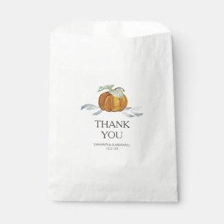 Sacolinha As bolsas do favor dos doces da abóbora