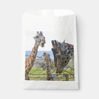 Sacolinha As bolsas do favor dos girafas da bisbilhotice
