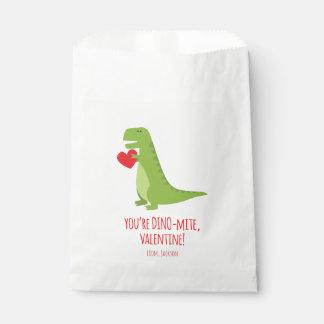 Sacolinha As bolsas do favor dos namorados do dinossauro de