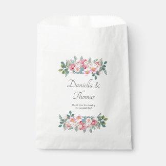 Sacolinha As bolsas elegantes do favor do casamento do