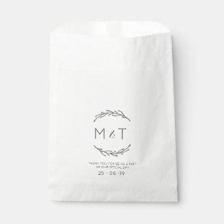 Sacolinha As bolsas feitas sob encomenda do favor do