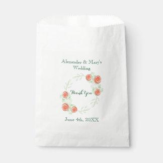 Sacolinha As bolsas florais do favor do casamento - design