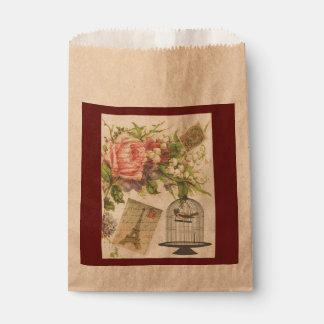 Sacolinha As bolsas francesas do favor de Paris do vintage