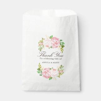 Sacolinha As peônias cor-de-rosa elegantes que Wedding o