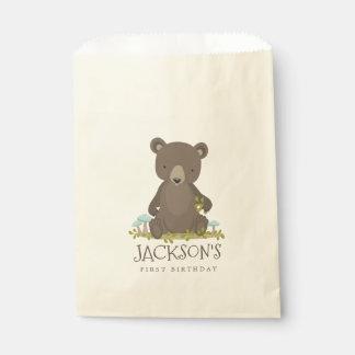 Sacolinha Aventura da floresta pouco urso do bebê de Cub