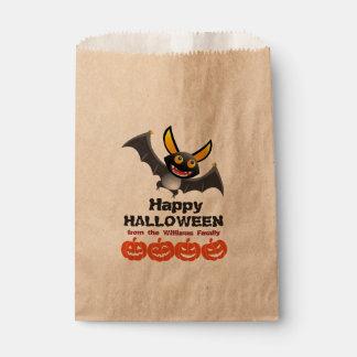 Sacolinha Bastão de vampiro & abóboras personalizados o Dia