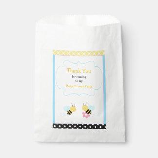 Sacolinha Bumble o partido de chá de fraldas da abelha