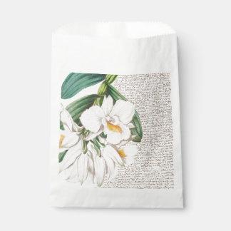 Sacolinha Caligrafia branca das orquídeas