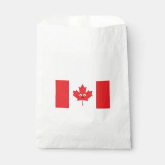 Sacolinha Cara canadense da folha de bordo