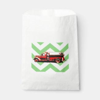 Sacolinha Carro de bombeiros vermelho do vintage